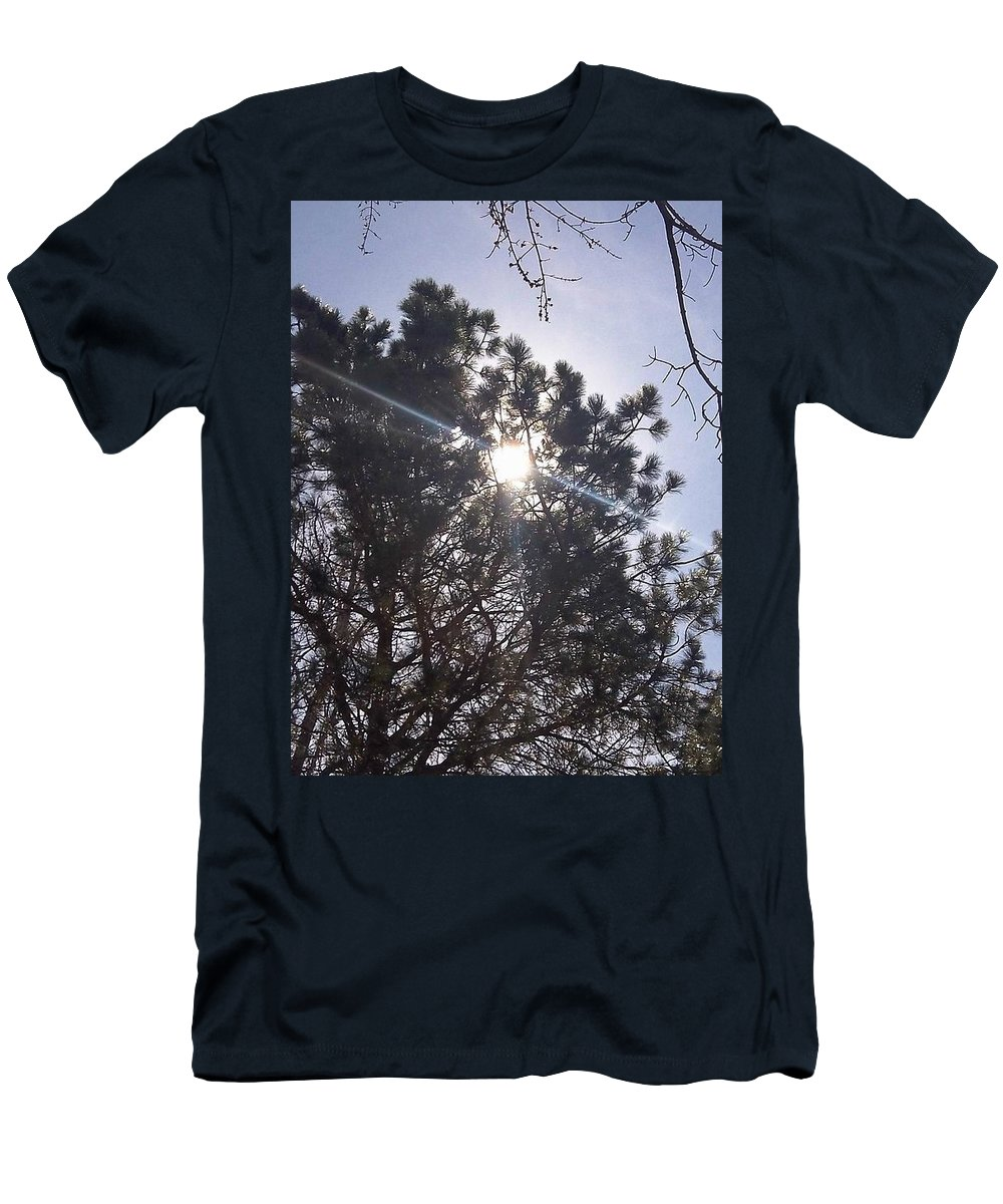 Photography Men's T-Shirt (Athletic Fit) featuring the photograph Flashlight Canope by Percival Vince