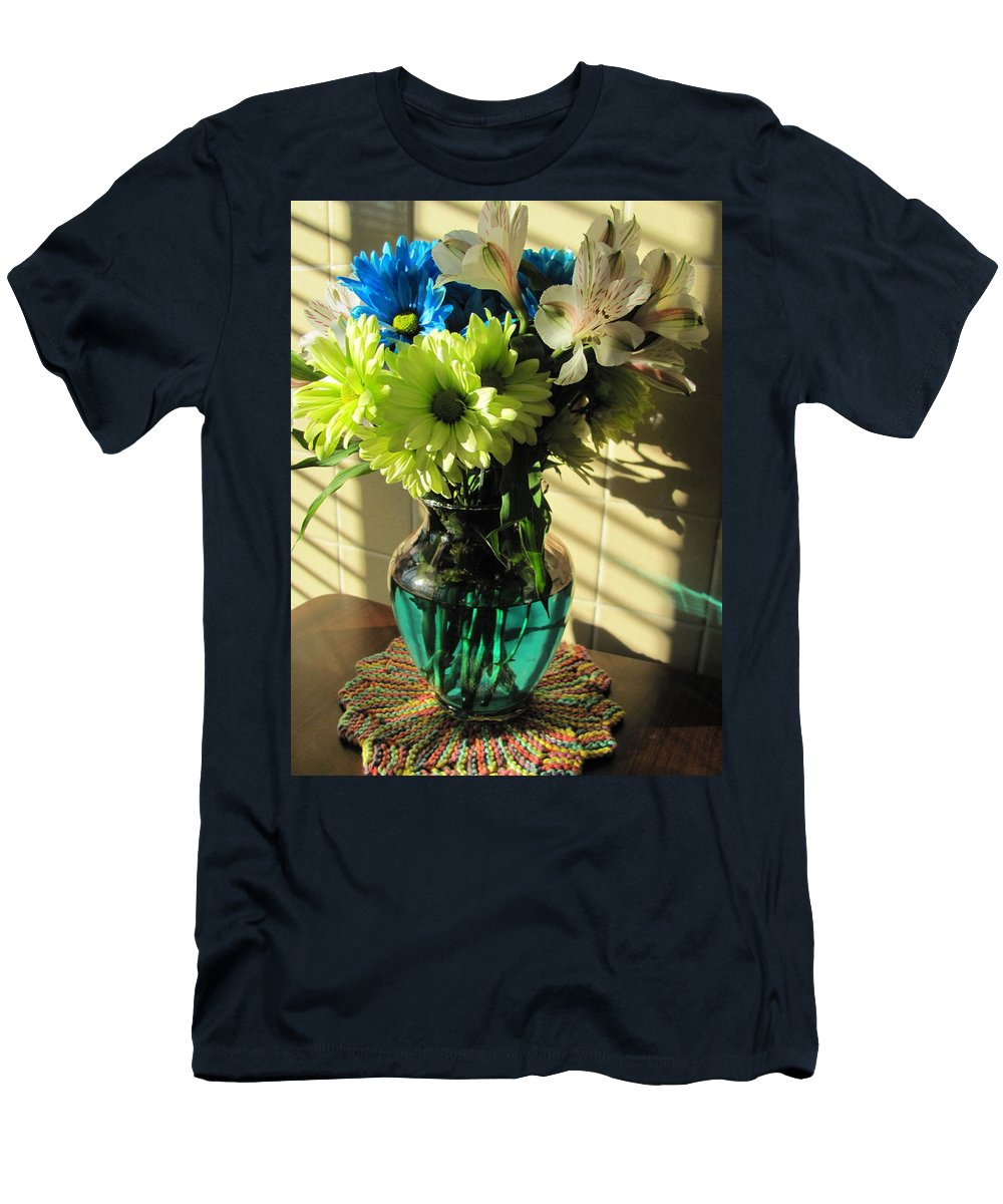 Flowers Men's T-Shirt (Athletic Fit) featuring the photograph Floral Bouquet 3 by Anita Burgermeister