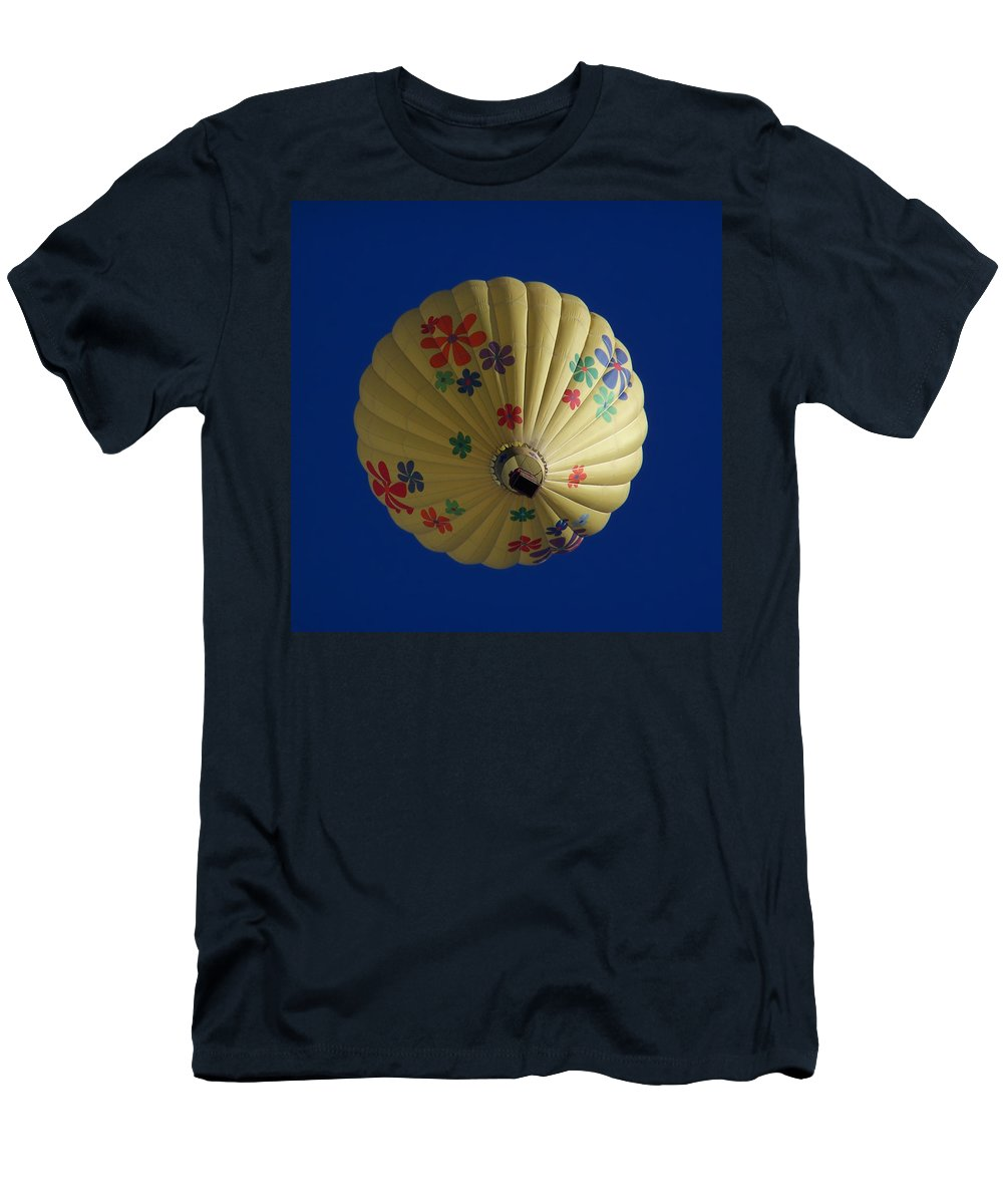 Balloon Men's T-Shirt (Athletic Fit) featuring the photograph Flower Power Balloon by Ernie Echols