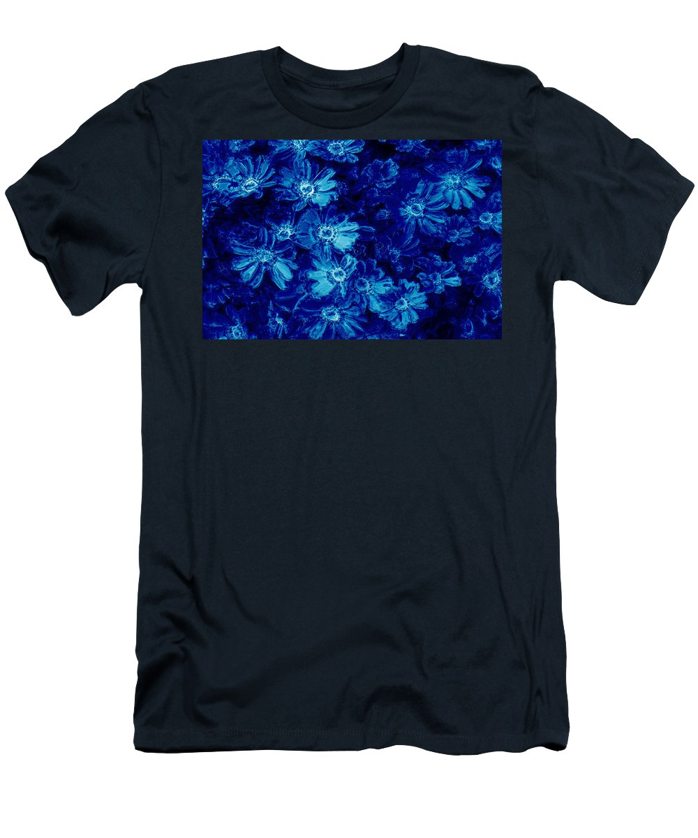 Tile Men's T-Shirt (Athletic Fit) featuring the photograph Flowers On Tiles by Phill Petrovic