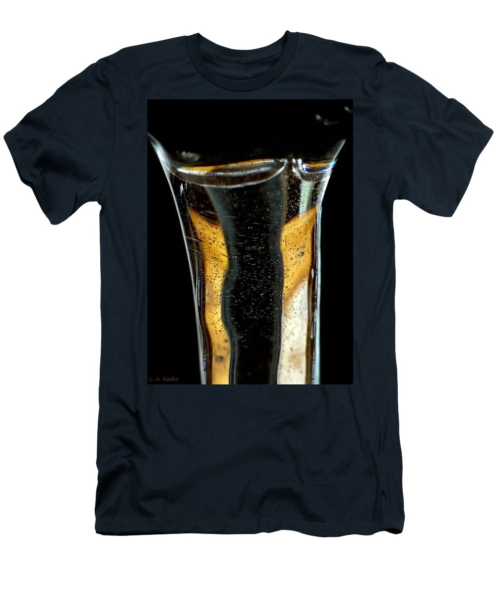 Abstract Men's T-Shirt (Athletic Fit) featuring the photograph Fluidity IIi by Lauren Radke