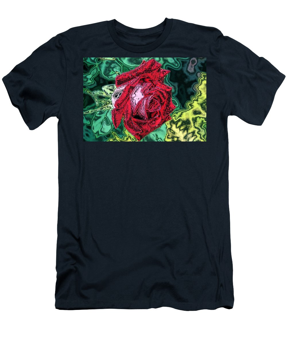 Rose Men's T-Shirt (Athletic Fit) featuring the photograph Foiled Again by Kristin Elmquist