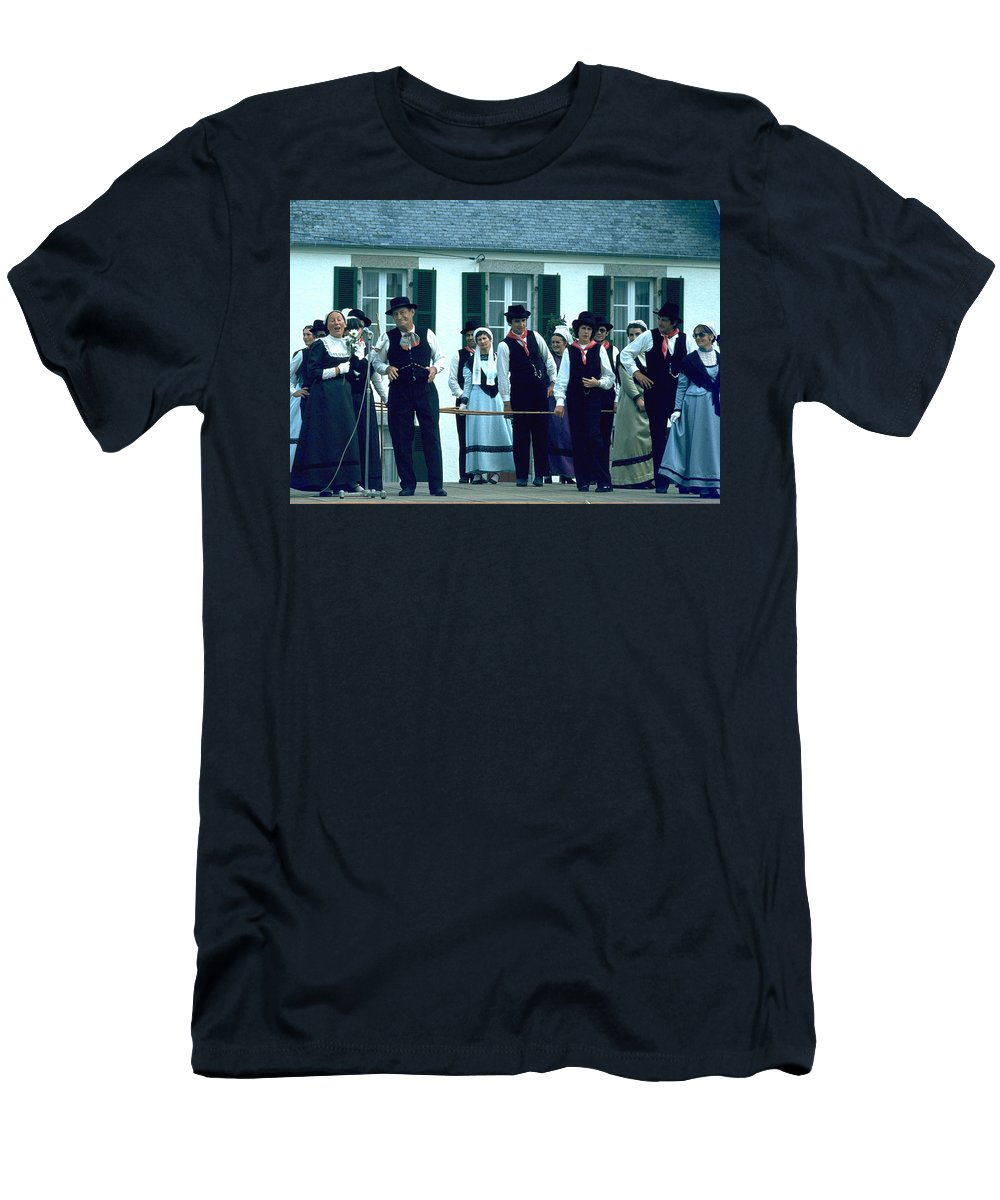 Tradition Men's T-Shirt (Athletic Fit) featuring the photograph Folk Music by Flavia Westerwelle