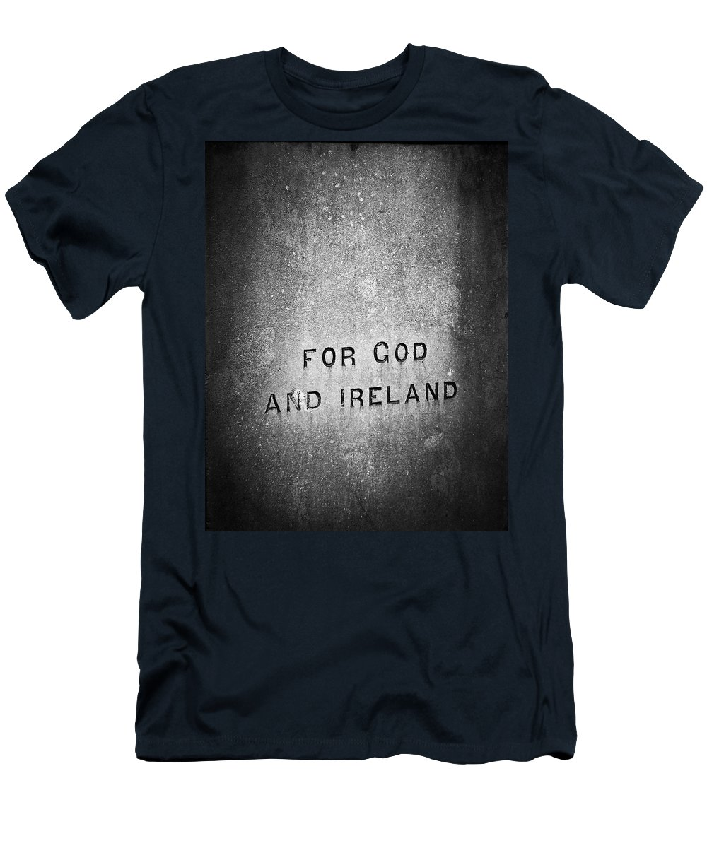 Irish Men's T-Shirt (Athletic Fit) featuring the photograph For God And Ireland Macroom Ireland by Teresa Mucha