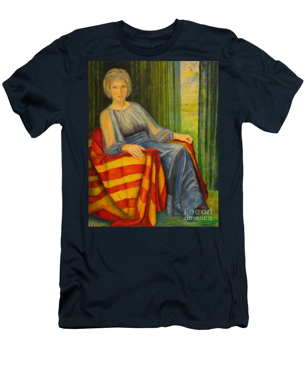 Fortuna T-Shirt featuring the painting Fortuna by Dagmar Helbig