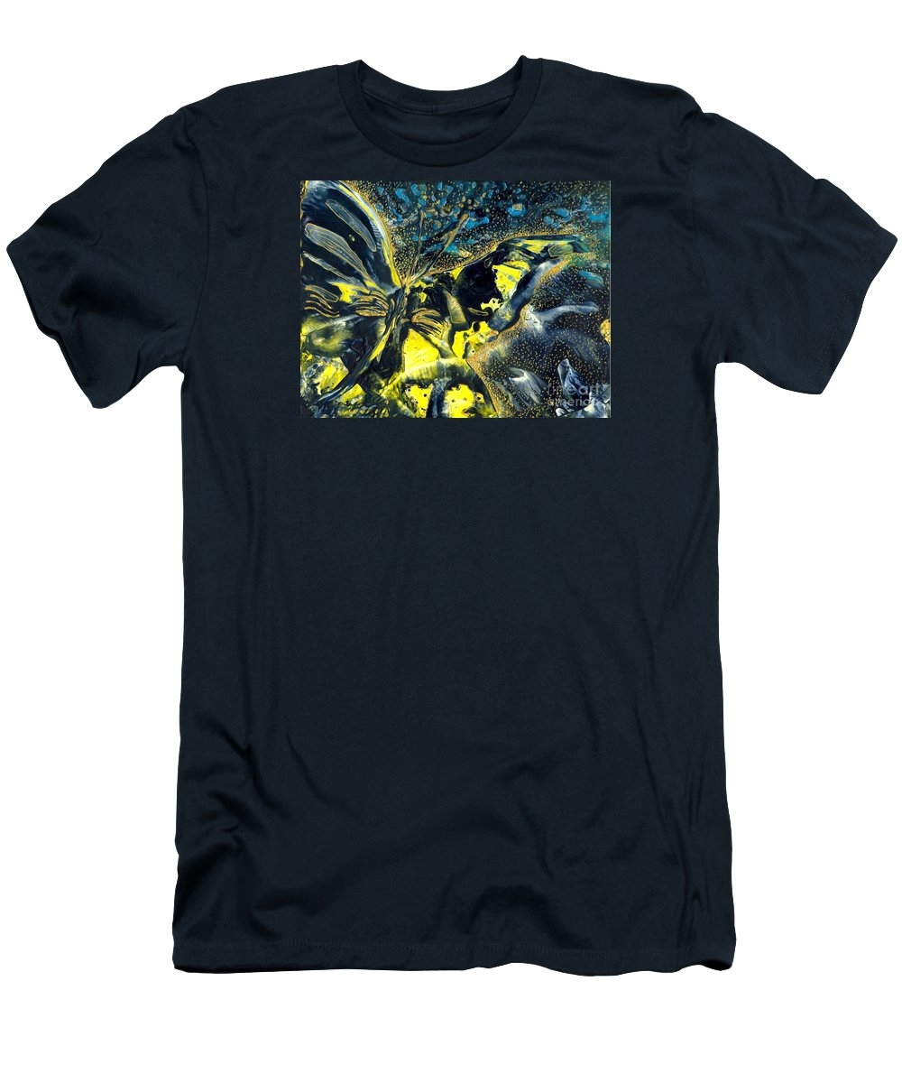 Butterfly Men's T-Shirt (Athletic Fit) featuring the painting Freedom For Margot by Heather Hennick