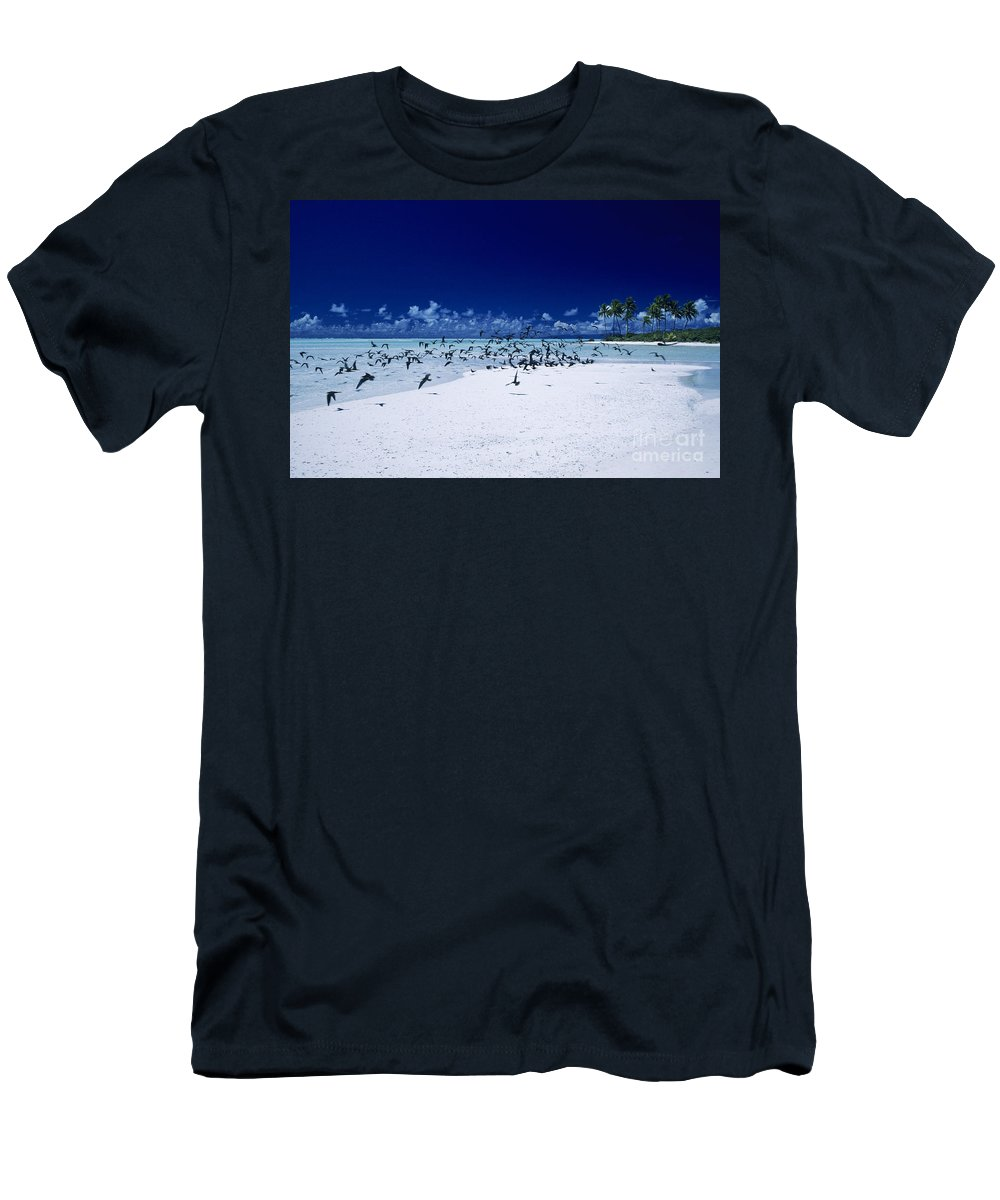 Ashore Men's T-Shirt (Athletic Fit) featuring the photograph French Polynesia, Tetiaro by Larry Dale Gordon - Printscapes