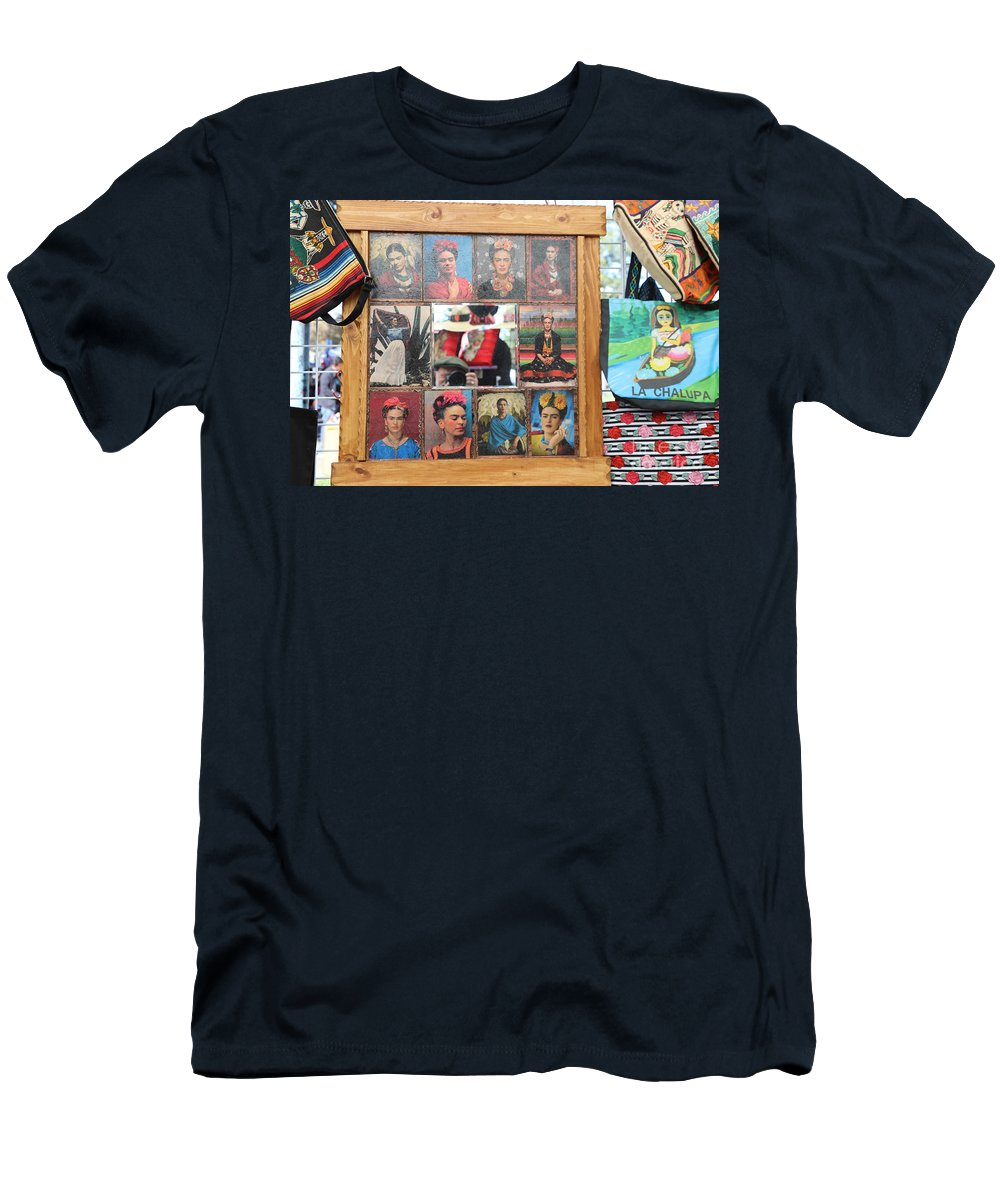 Dia De Los Muertos Men's T-Shirt (Athletic Fit) featuring the photograph Frida Kahlo Display II by Chuck Kuhn