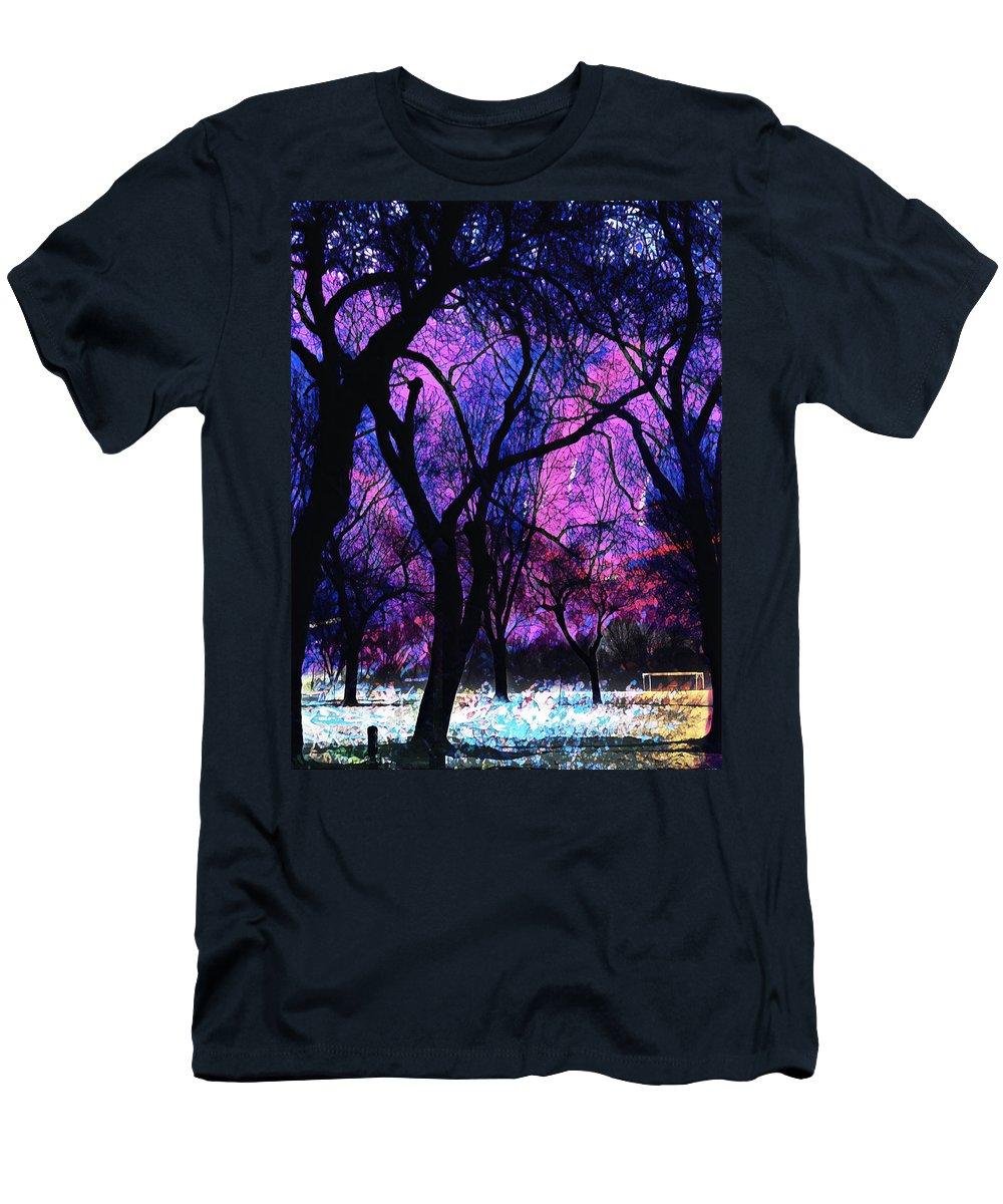 Winter Men's T-Shirt (Athletic Fit) featuring the digital art Frigide by Aiden Nettavong