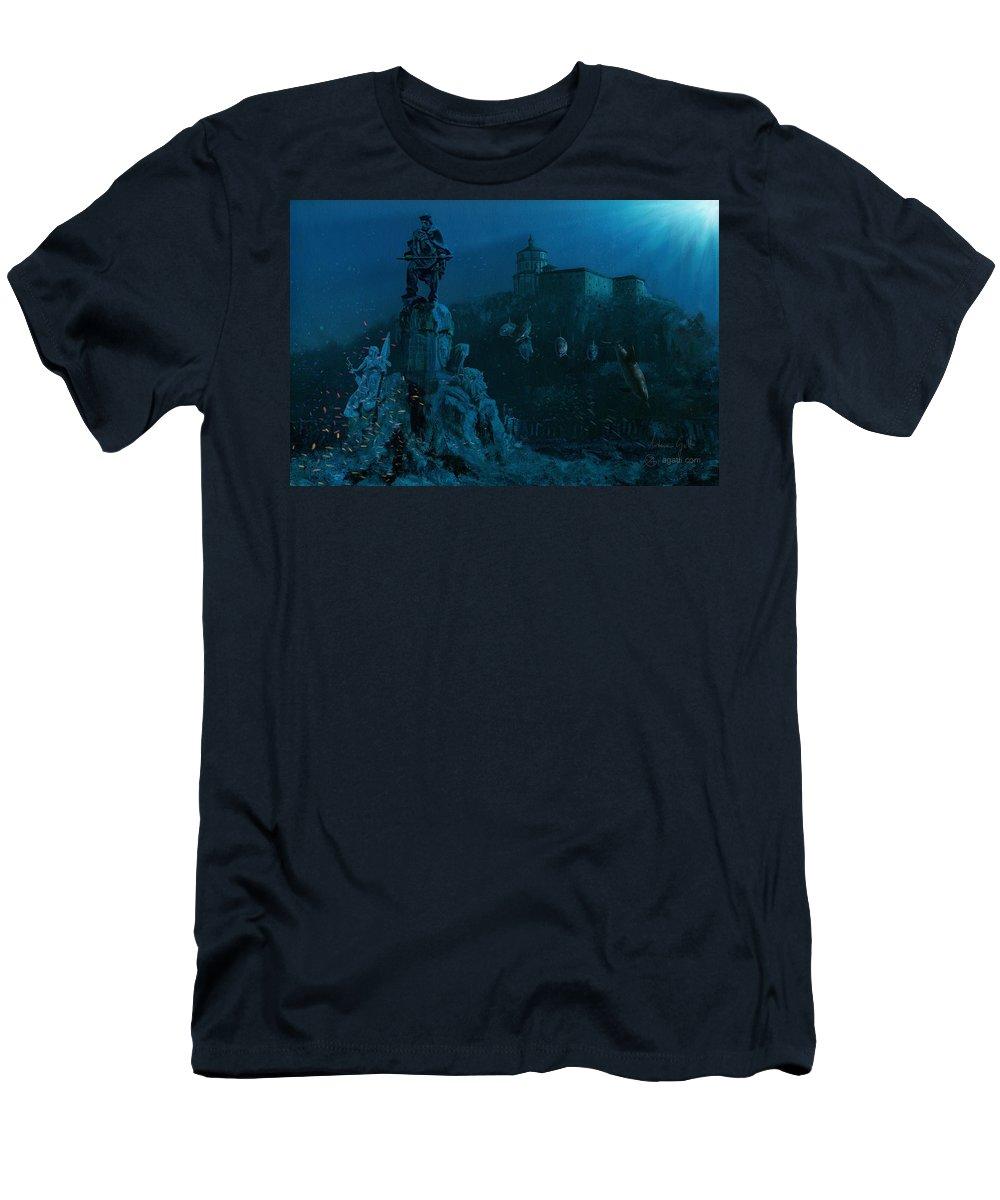 Sci-fi Men's T-Shirt (Athletic Fit) featuring the digital art Garibaldi by Andrea Gatti