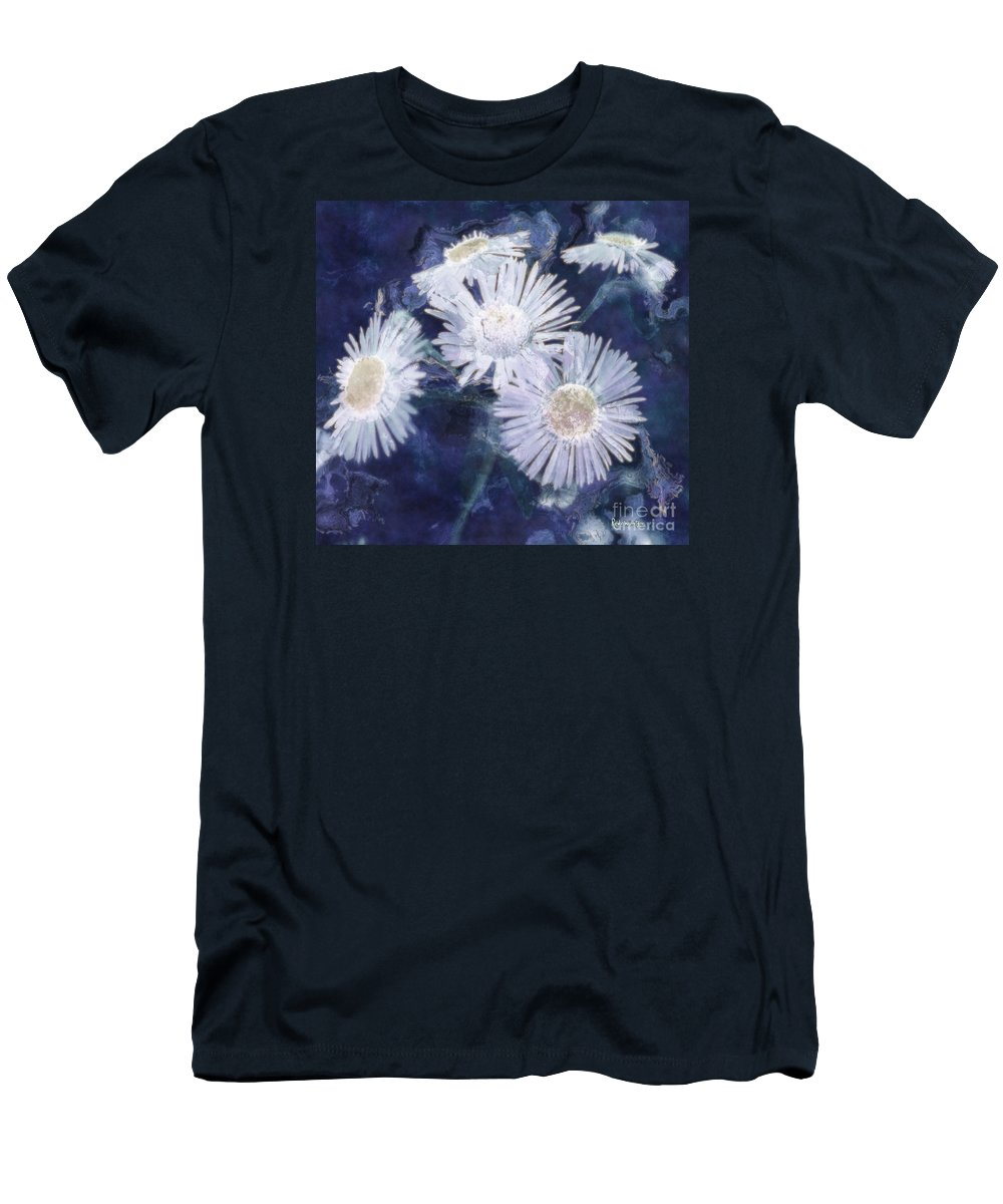 Asters Men's T-Shirt (Athletic Fit) featuring the painting Ghost Flowers by RC DeWinter