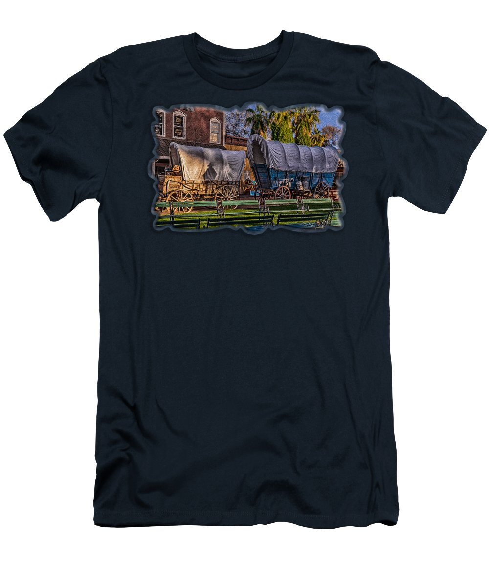 Arizona Men's T-Shirt (Athletic Fit) featuring the photograph Ghost Of Old West No.1 by Mark Myhaver