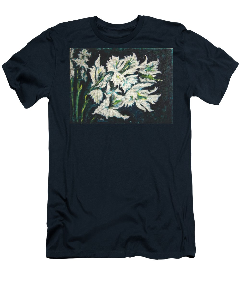 Gladioli T-Shirt featuring the painting Gladioli by Usha Shantharam