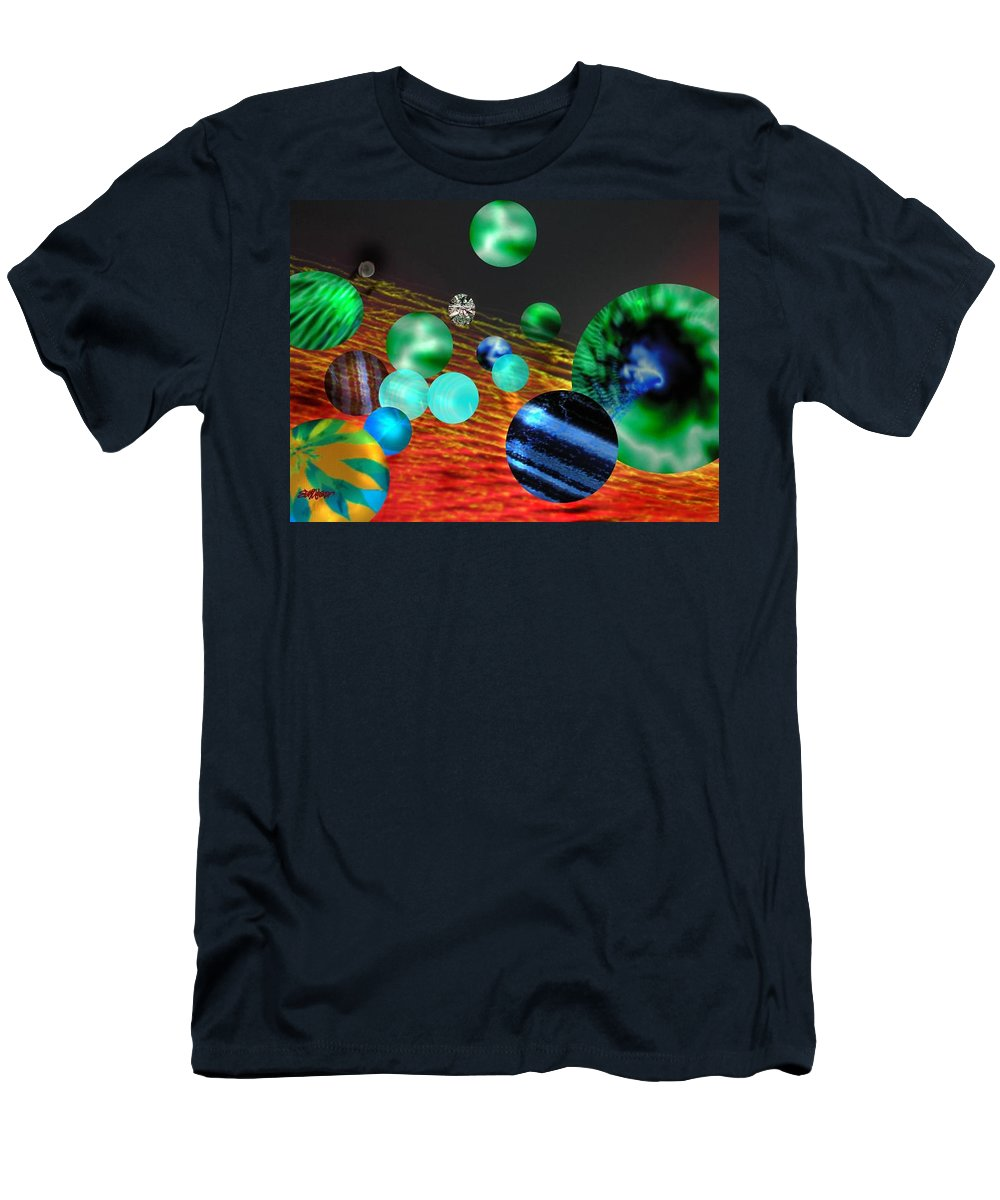 A Tribute To Donovan And His Song cosmic Wheels. A Line In The Song...god Is Playing Marbles With T-Shirt featuring the digital art God Playing Marbles Tribute To Donovan by Seth Weaver