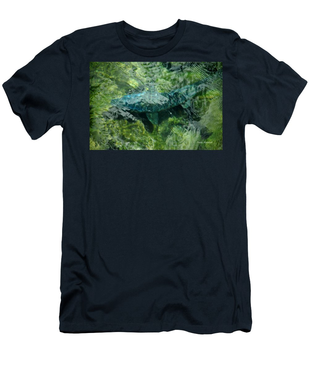 Water Men's T-Shirt (Athletic Fit) featuring the photograph Gone Fishin by Donna Blackhall