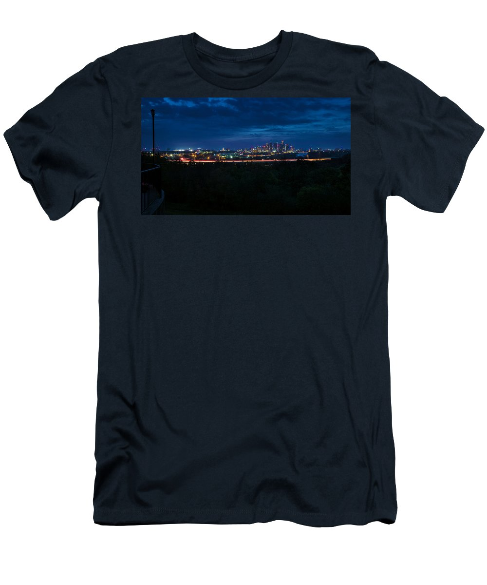 Austin Men's T-Shirt (Athletic Fit) featuring the photograph Good Morning Austin by Jay Anne Boza