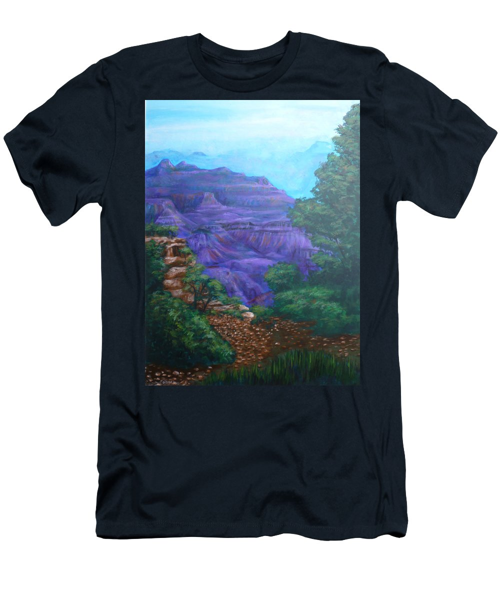 The Grand Canyon Men's T-Shirt (Athletic Fit) featuring the painting Grand Canyon by Bryan Bustard