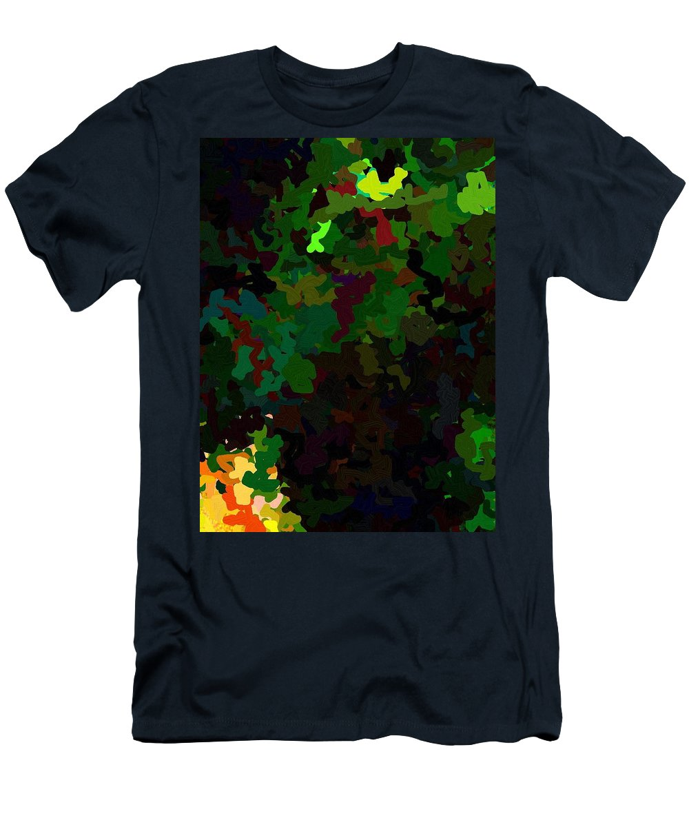 Style Men's T-Shirt (Athletic Fit) featuring the digital art Green Horse Eating A Pear by April Patterson