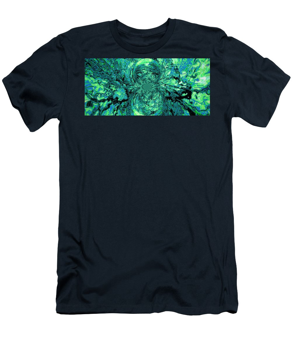 Green Men's T-Shirt (Athletic Fit) featuring the digital art Green Irrevelance by Charleen Treasures