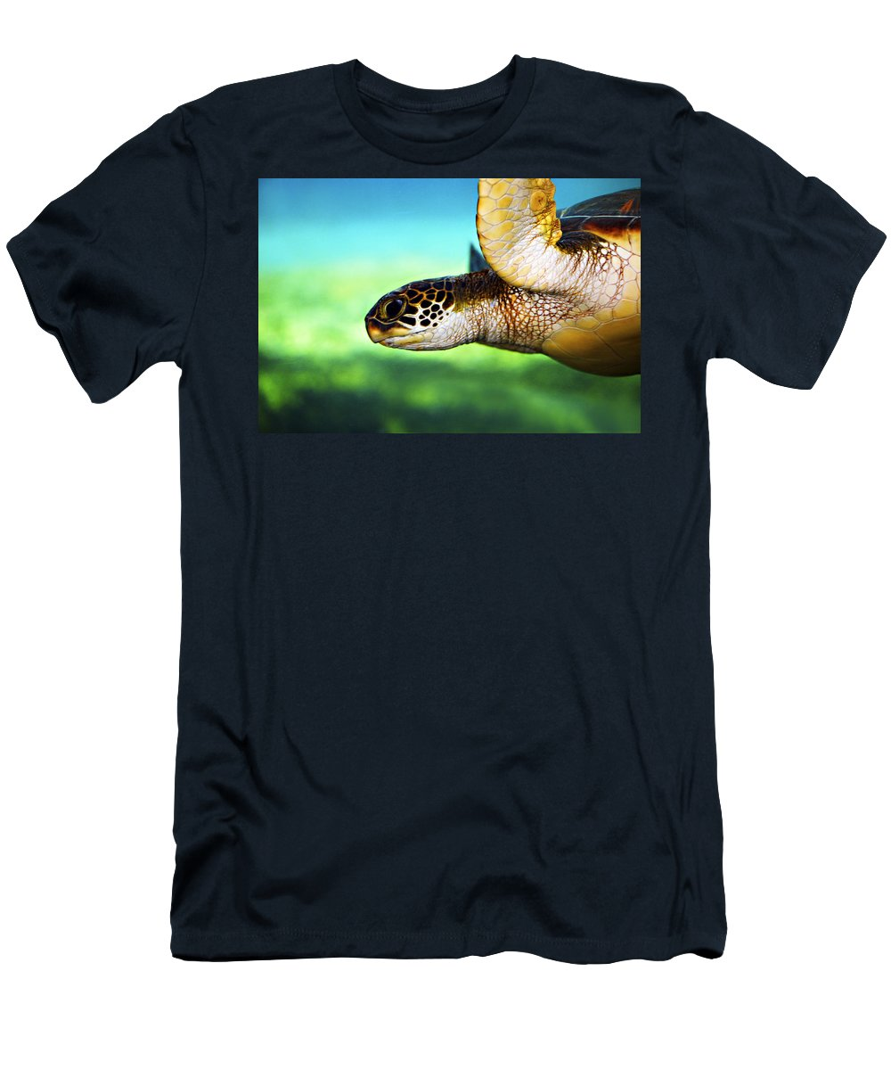 Green T-Shirt featuring the photograph Green Sea Turtle by Marilyn Hunt