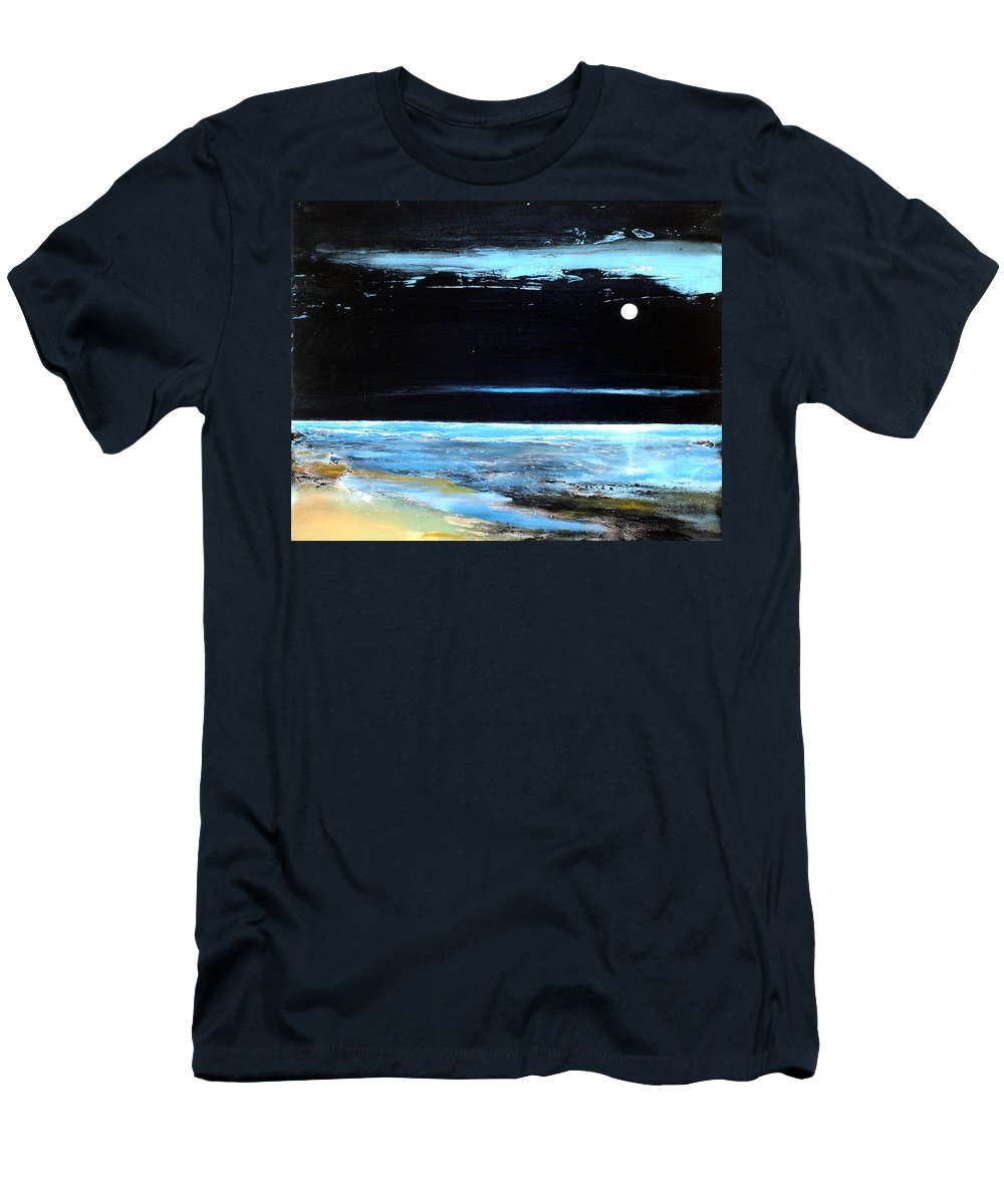 Landscape Men's T-Shirt (Athletic Fit) featuring the painting Guiding Light by Toni Grote