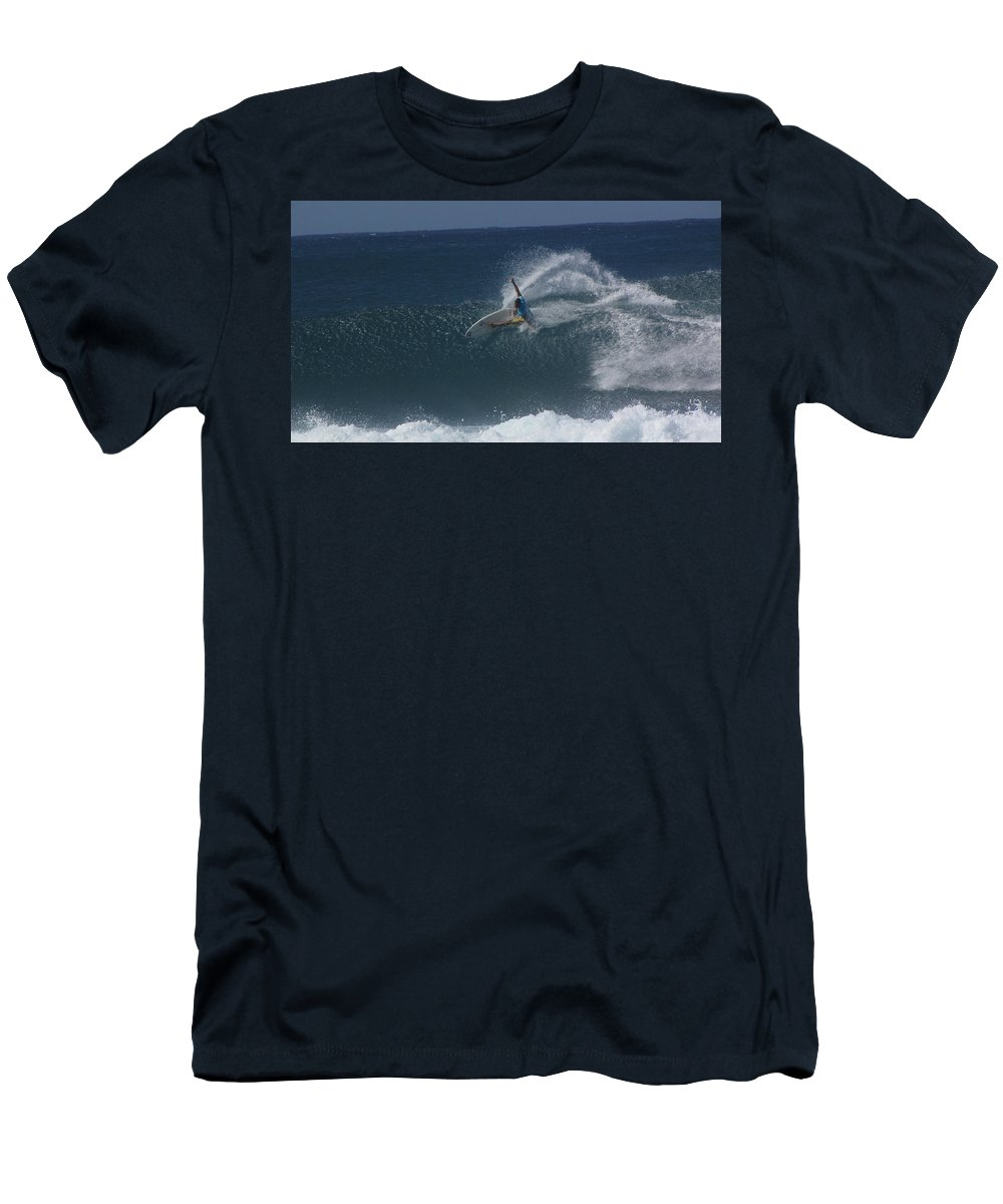 Surfer Men's T-Shirt (Athletic Fit) featuring the photograph Hawaii Pipeline by Sarah Houser
