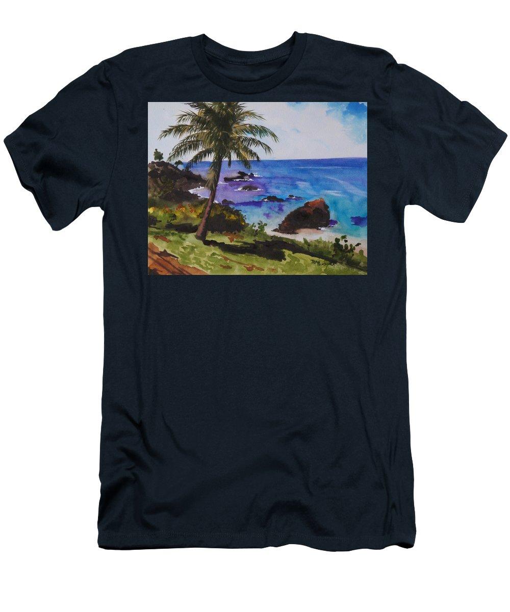 Hawaii Men's T-Shirt (Athletic Fit) featuring the painting Hawaiian Splendor by Jean Blackmer