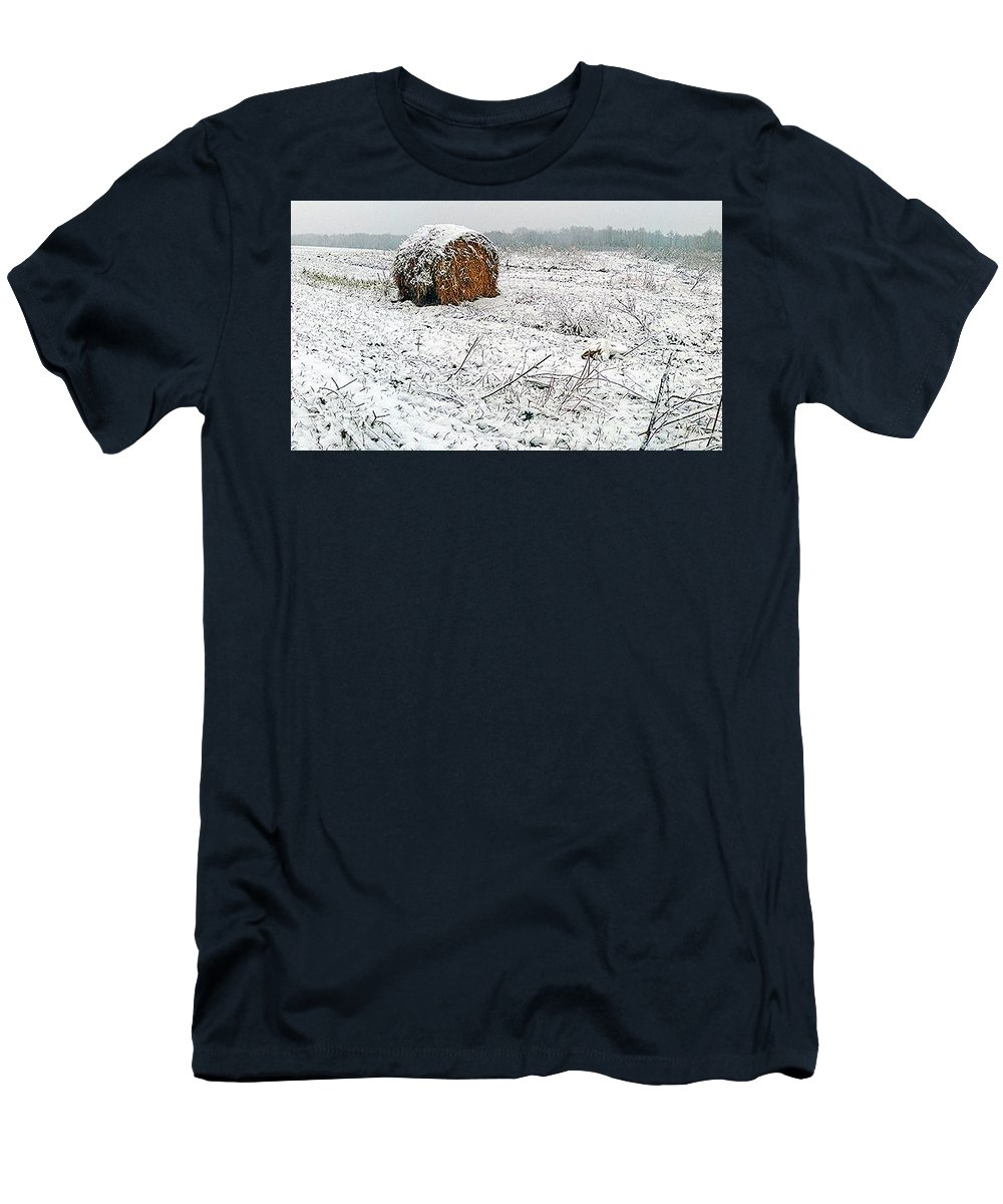 Winter Men's T-Shirt (Athletic Fit) featuring the photograph Hay. by Mihael Nollta