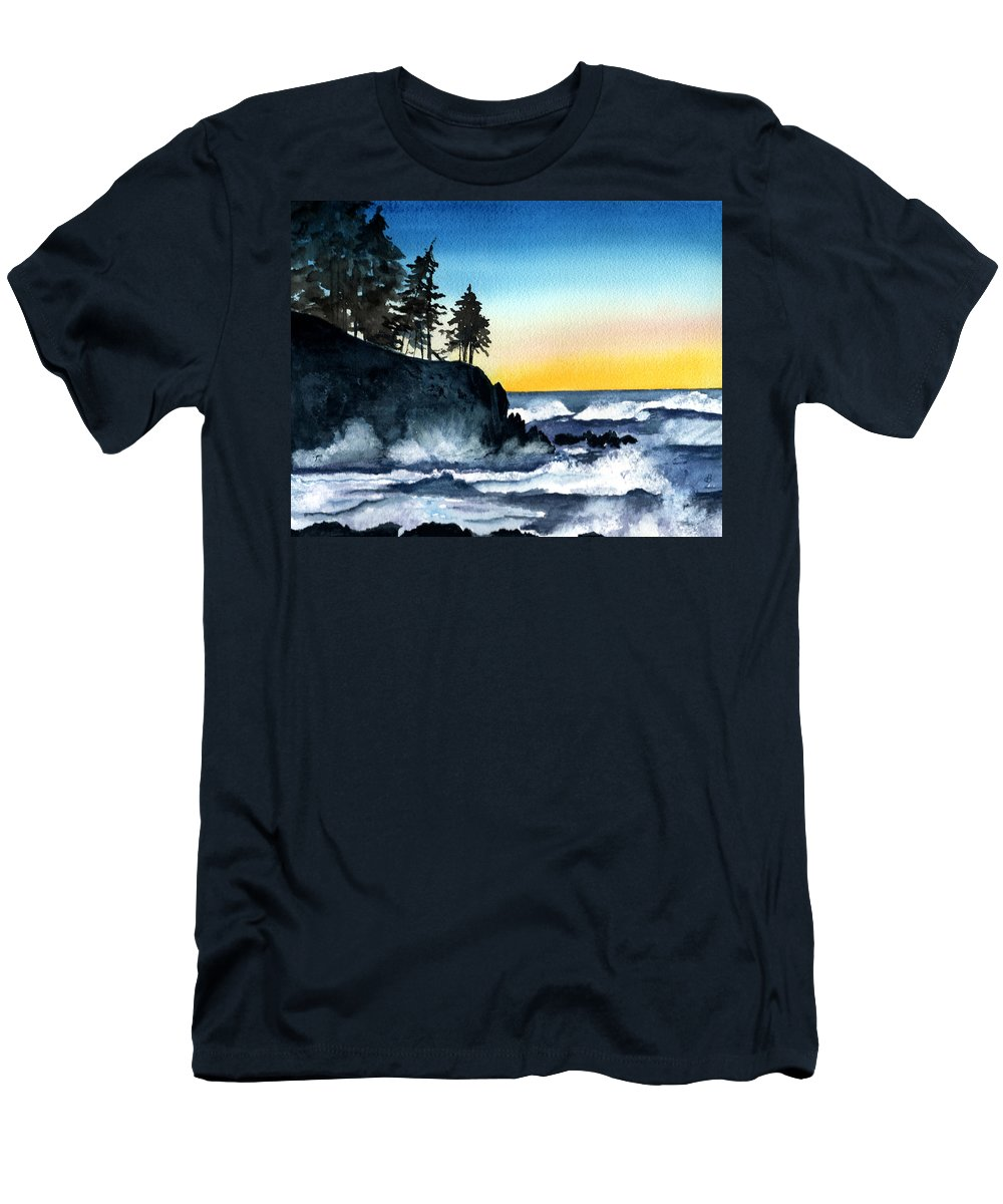 Alaska Men's T-Shirt (Athletic Fit) featuring the painting Headland by Brenda Owen