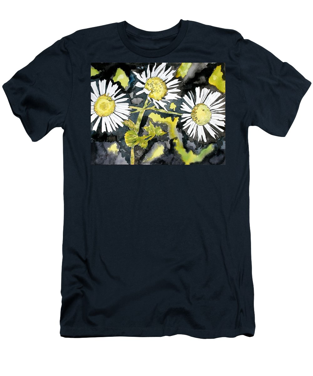 Wildflower Men's T-Shirt (Athletic Fit) featuring the painting Heath Aster Flower Art Print by Derek Mccrea