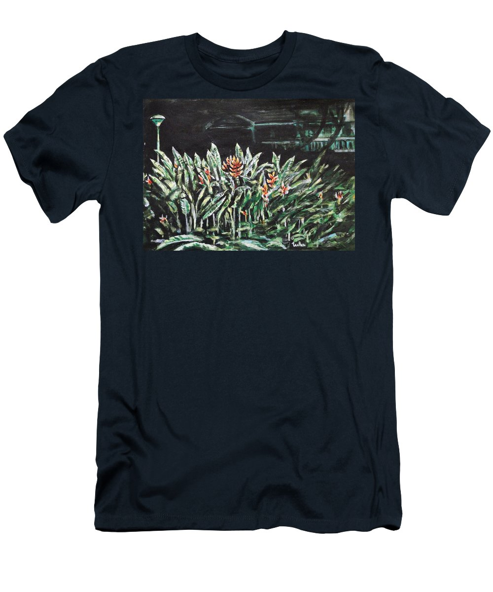 Heliconia T-Shirt featuring the painting Heliconia 3 by Usha Shantharam