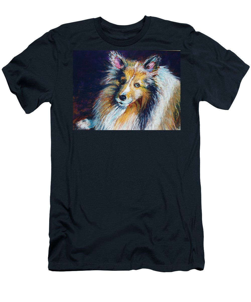 Dog Men's T-Shirt (Athletic Fit) featuring the painting Her Name Is Lola by Laurie Paci
