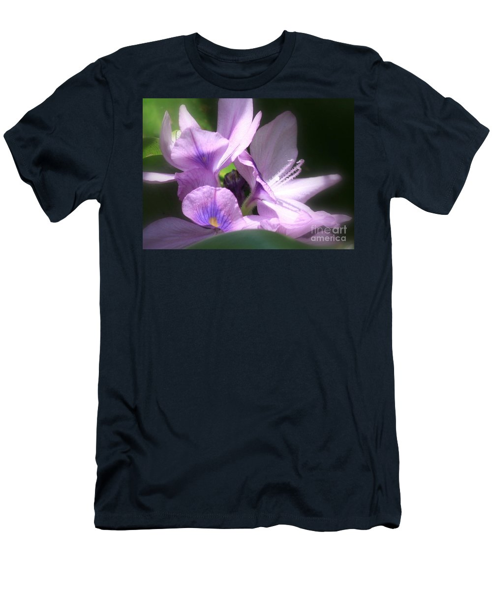 Flower Men's T-Shirt (Athletic Fit) featuring the photograph Hidden Gem In The Swamp by Carol Groenen