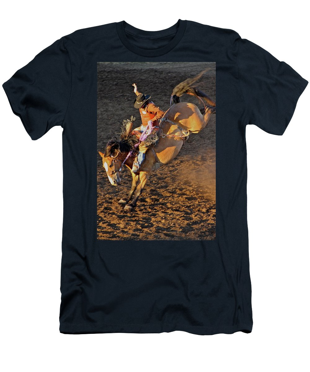 Rodeo Men's T-Shirt (Athletic Fit) featuring the photograph High Flight by Laddie Halupa