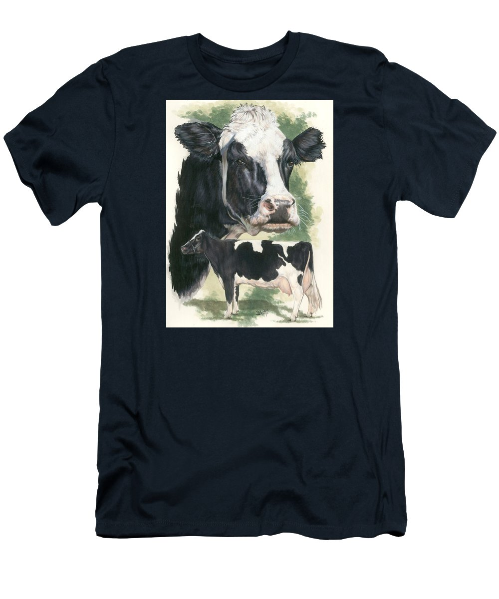 Cow Men's T-Shirt (Athletic Fit) featuring the mixed media Holstein by Barbara Keith