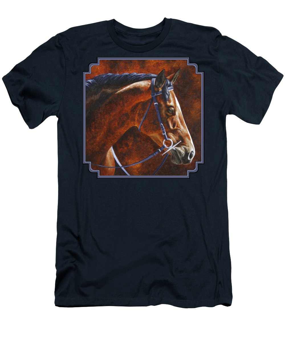 Horse Men's T-Shirt (Athletic Fit) featuring the painting Horse Painting - Ziggy by Crista Forest