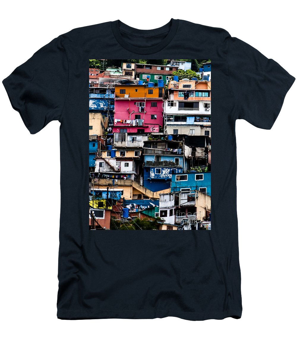 El Hatillo Men's T-Shirt (Athletic Fit) featuring the photograph Houses by Carolina Mendez