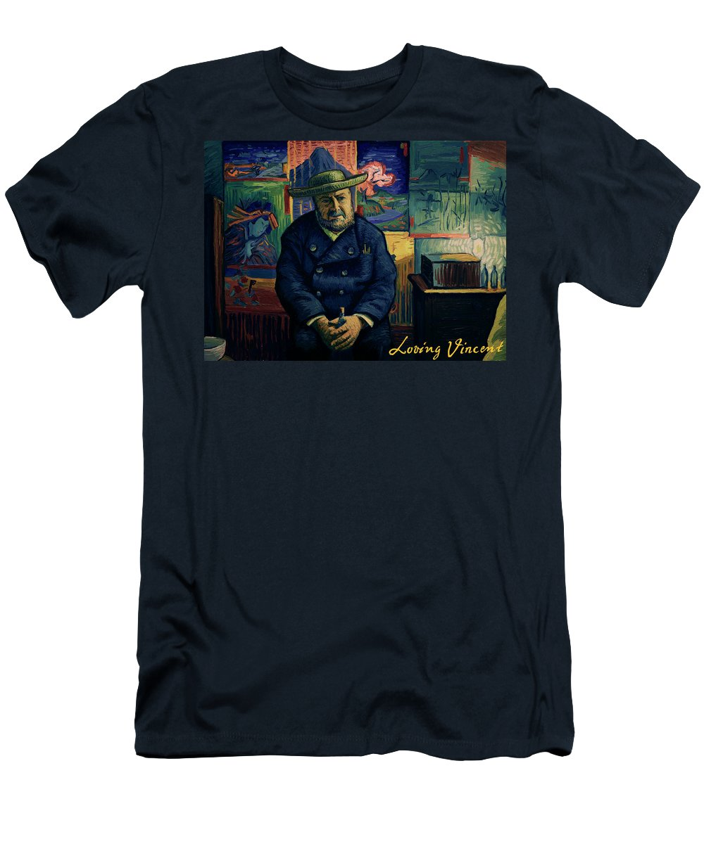 Men's T-Shirt (Athletic Fit) featuring the painting I Am Afraid You Will Never Deliver That Letter To Theo Van Gogh by Jakub Podlodowski