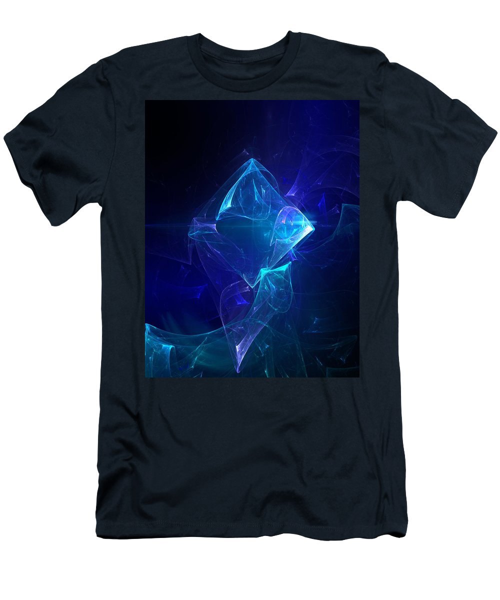 Abstract Digital Photo Men's T-Shirt (Athletic Fit) featuring the digital art I Had Too Much To Dream Last Night by David Lane