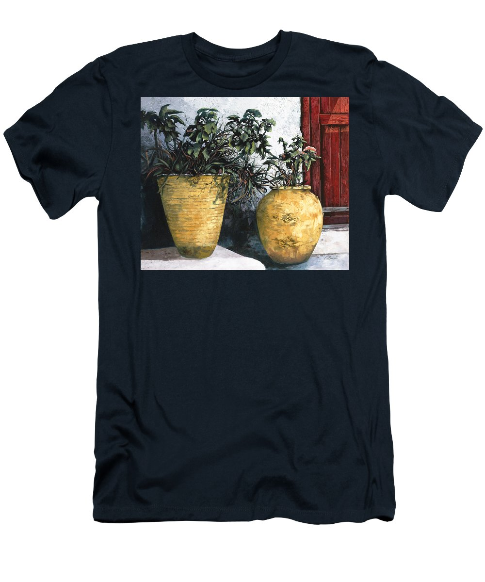 Vases Men's T-Shirt (Athletic Fit) featuring the painting I Vasi by Guido Borelli