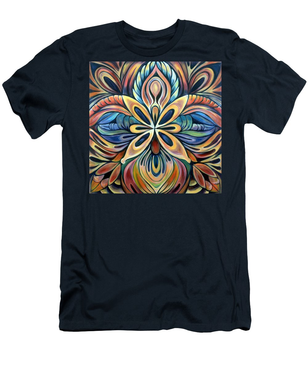 Mandala T-Shirt featuring the painting Illumination by Shadia Derbyshire