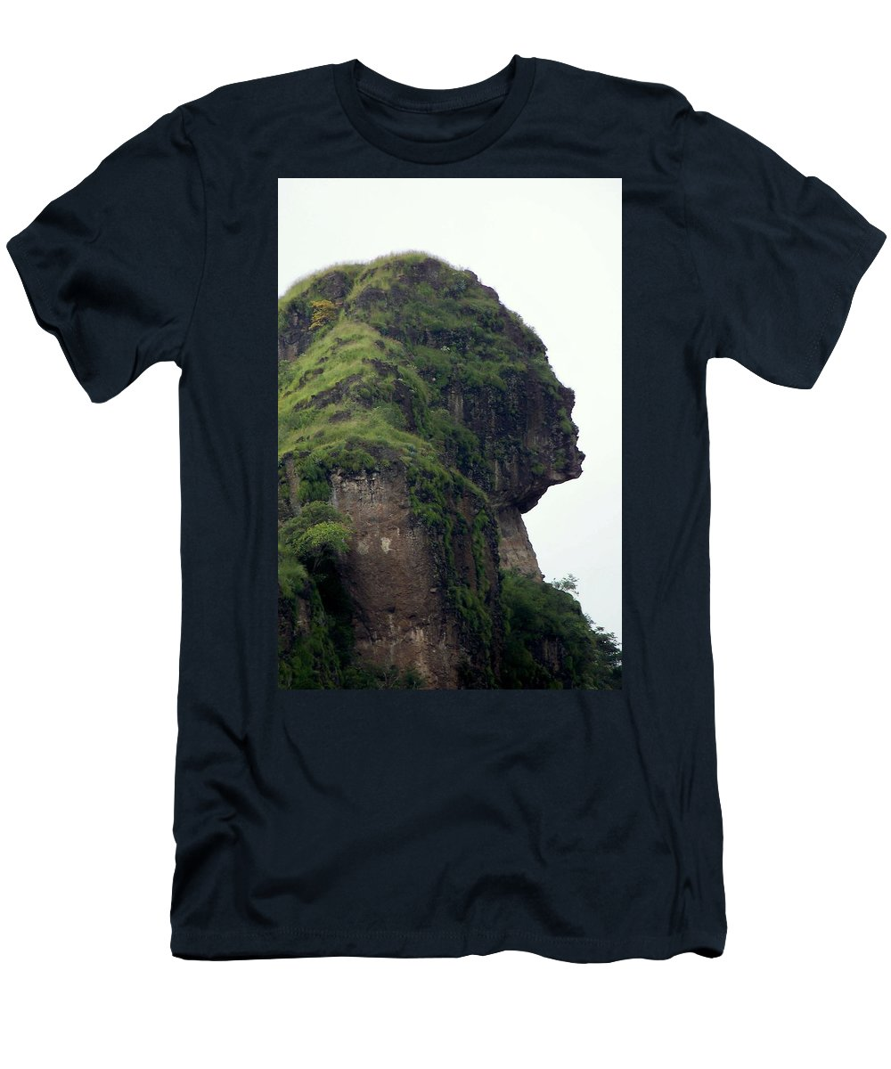 Face Men's T-Shirt (Athletic Fit) featuring the photograph Image Of A Woman by Karen Wiles