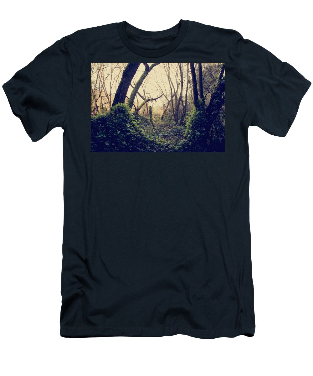 Forest Men's T-Shirt (Athletic Fit) featuring the photograph In The Forest Of Dreams by Laurie Search