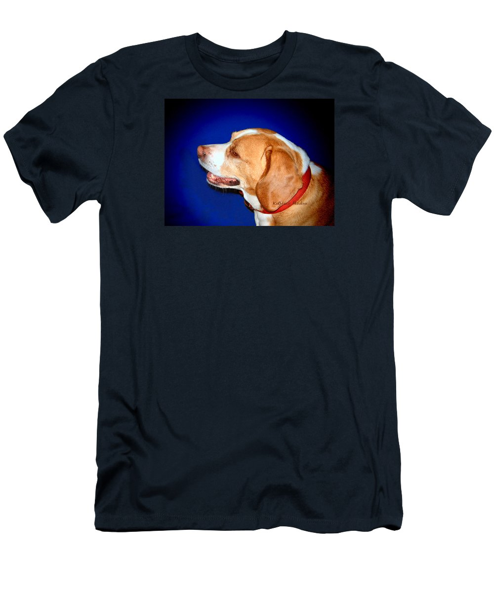 Beagle Art Men's T-Shirt (Athletic Fit) featuring the photograph In The Spotlight by KLM Kathel