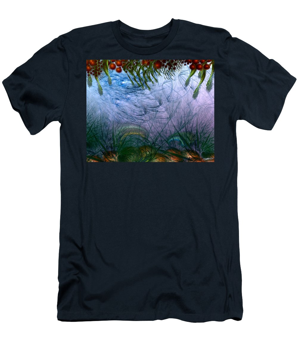 Abstract Men's T-Shirt (Athletic Fit) featuring the digital art Incursion Into The Inversion by Casey Kotas