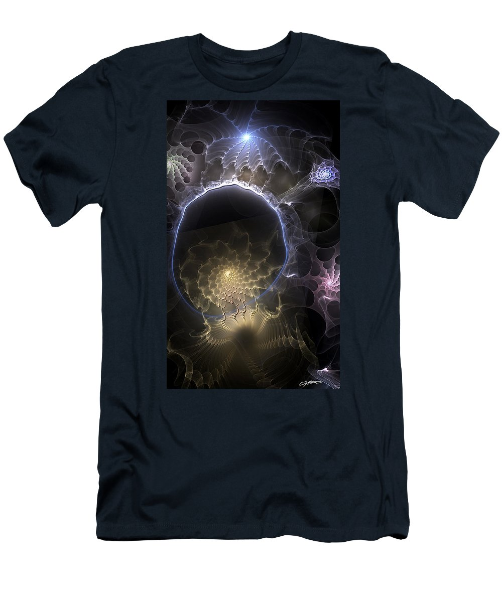 Abstract T-Shirt featuring the digital art Indefinable Expressions by Casey Kotas