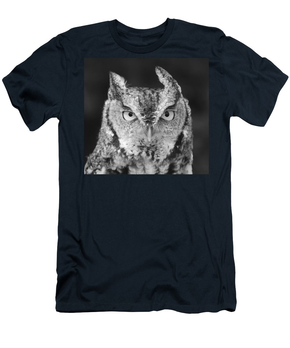 Black And White Men's T-Shirt (Athletic Fit) featuring the photograph Intense Stare by Richard Bryce and Family
