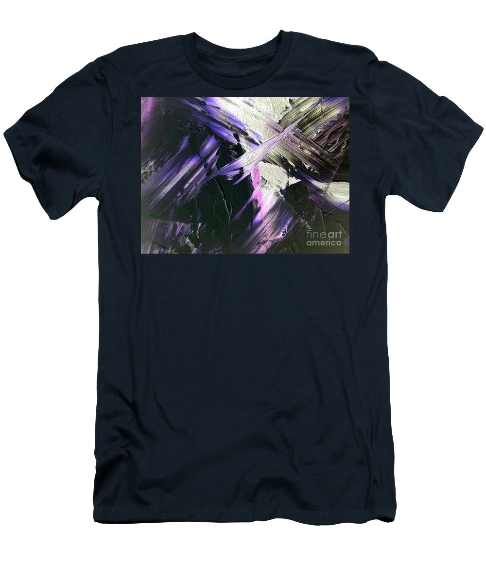 Interlude Men's T-Shirt (Athletic Fit) featuring the painting Interlude by Dawn Hough Sebaugh