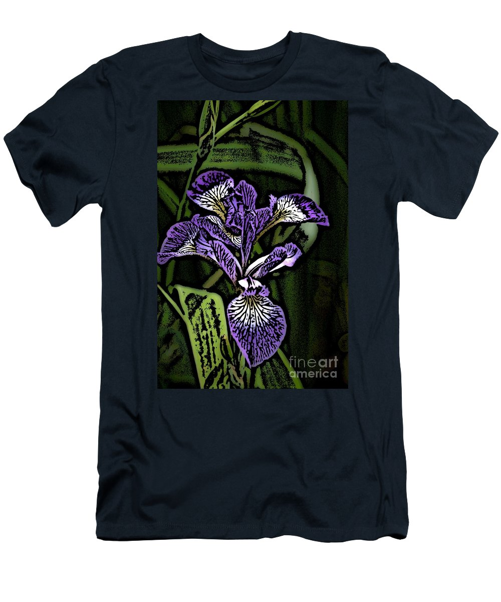 Digital Photograph Men's T-Shirt (Athletic Fit) featuring the photograph Iris by David Lane