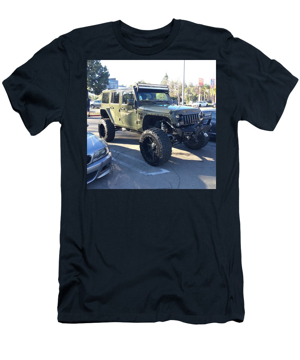 Jeep Custom Men's T-Shirt (Athletic Fit) featuring the photograph Jeep Custom by MAG Autosport